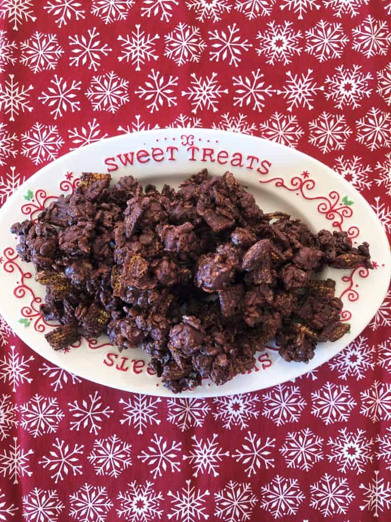 A plate of rocky road candy