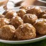 A plate of Swedish meatballs