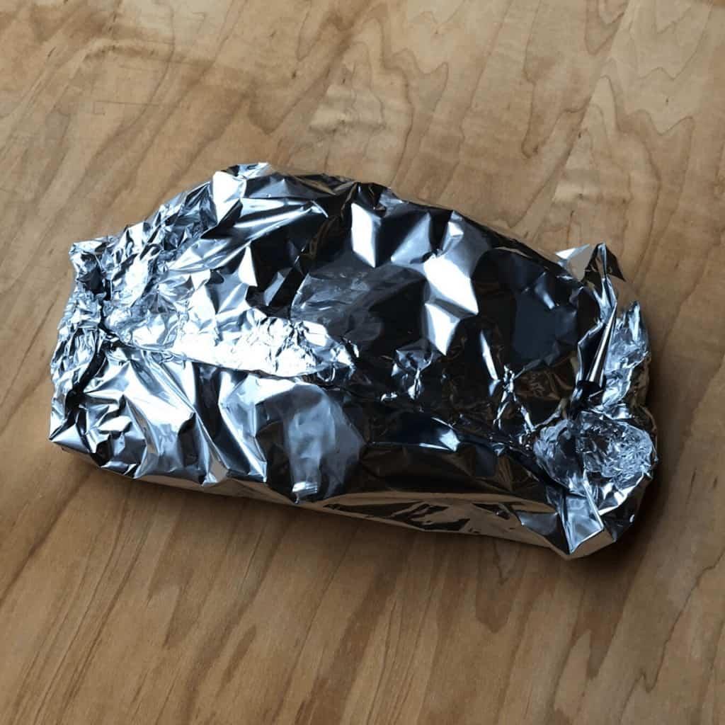 A sealed foil pack