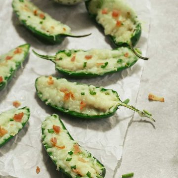 Jalapeno Poppers stuffed with dairy free cheese