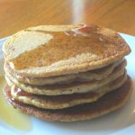 A stack of butternut squash pancakes