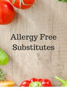 Allergy Free Substitutes