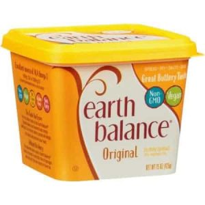 A photo of Earth Balance Buttery Spread which is a dairy free margarine alternative.