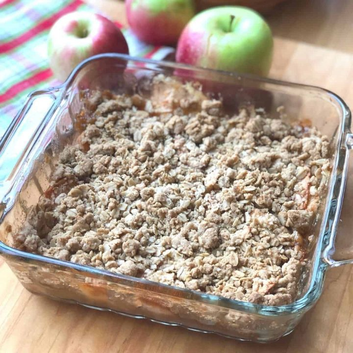 gluten and dairy free apple crisp
