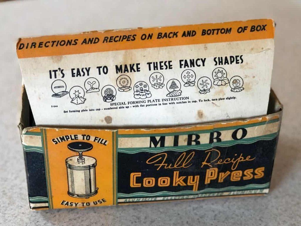 A cookie press box