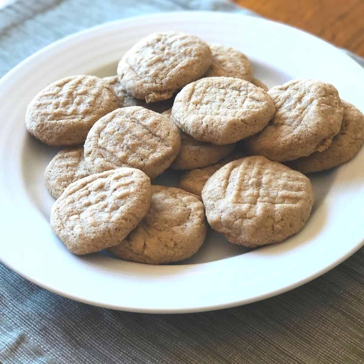 Sunbutter cookies on a plate