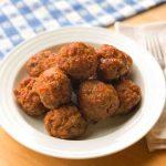 A bowl of gluten free turkey meatballs