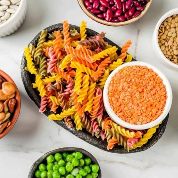 Various gluten free vegan pasta